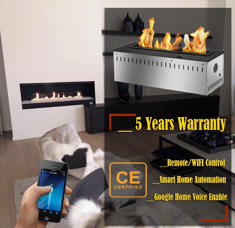 Hot Sale 30 Inches Bioetanolo Bruciatore Chemine Wifi Control