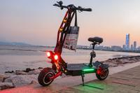 Janobike Electric scooter adult double drive 60V5600W with seat 11 inch airbag damping electric motorcycle