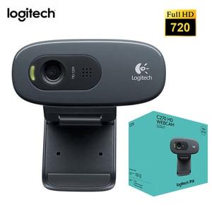 Logitech C270 HD веб-камера со встроенным микрофоном USB 2,0 интерфейс камеры сеть видео конференции широкоугольный Vid 720P ноутбук ПК