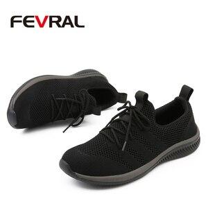 Image 3 - FEVRAL גברים נעליים יומיומיות מפורסם נוח סניקרס 2021 קיץ סתיו מאמני זכר לנשימה קל משקל נעלי גודל 39 44