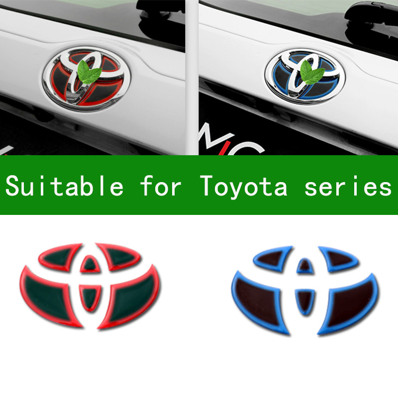FOR TOYOTA VIOS YARIS CAMRY CHR WISH PRIUS C HIACE ESTIMA Steering wheel logo decorative sticker Hybrid font rear logo sticker