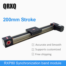 Manufacturer direct synchronous belt linear reciprocating table linear slide module 200mm