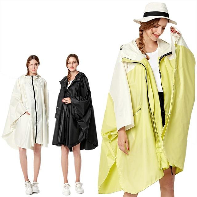 Big Size XXL Women Breathable Raincoat Lightweight Rain Coat Poncho Ladies Waterproof Cloak Raincoats Adults Windproof Rainwear 1
