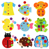Forest Animals Theme DIY Fabric Material Package Kids Educational Toy Child Handmade Making Cloth Nonwoven Cutting Felt Material