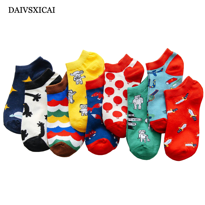 5pairs/lot=10pieces New Woman Cotton Socks Pink Cute Cat Ankle Short Ladies Socks Casual Animal Ear Red Heart Gril Socks 35-40