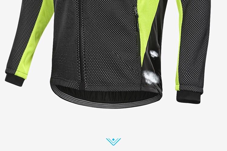 vento bicicleta casaco roupas manga longa ciclismo jerseys