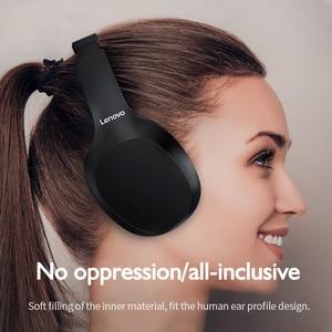 Image 5 - Original Lenovo HD100 Bluetooth 5.0 Headphone Multi mode Stereo Long Battery Wireless Headphone with Mic for PC Laptop Phone