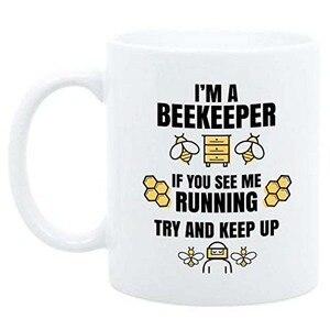 Image 1 - Taza de café de apicultor de 11oz, regalo divertido para el apicultor, soy una taza de apicultor, taza de café de abeja de miel, regalo de cumpleaños para el apicultor, Sav