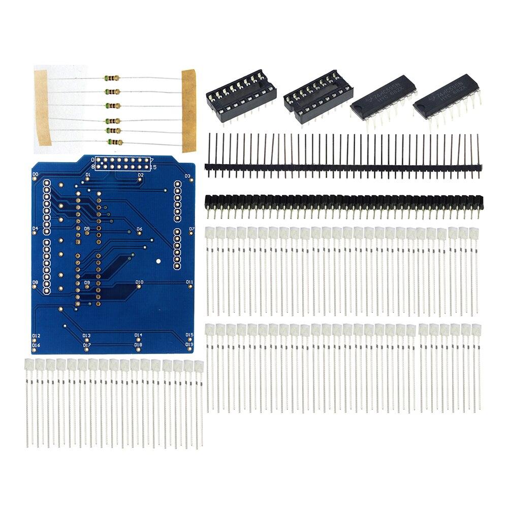 4X4X4 Blue LED Light Cube Kit 3D LED DIY Kit Electronic Suite For Arduino Diy Kit