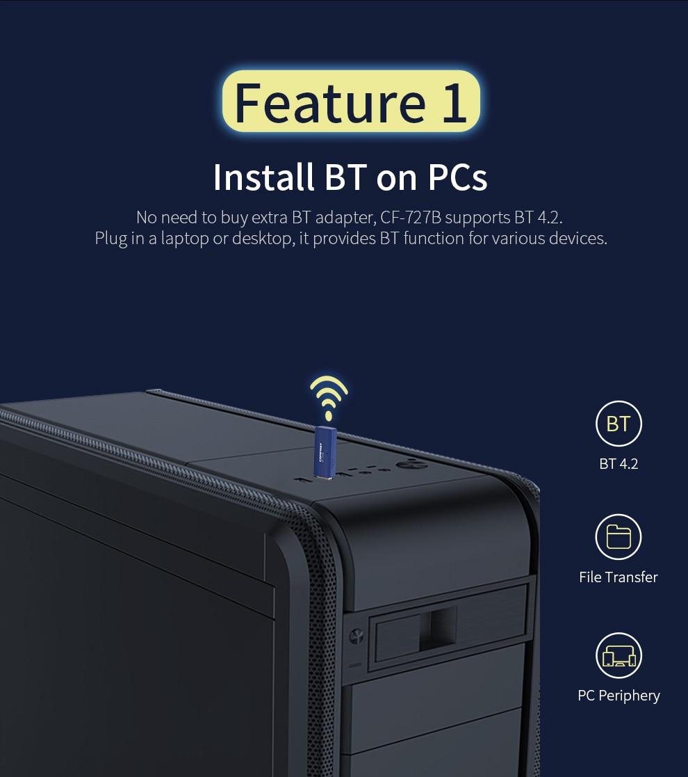 fio bluethooth dongle para computador pc 1300mbps
