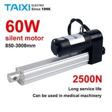 2500N actuador lineal eléctrico DC motor 900mm 1000mm 2000mm 3000mm actuador de elevación remota DC24V putter silencioso de ahorro de energía