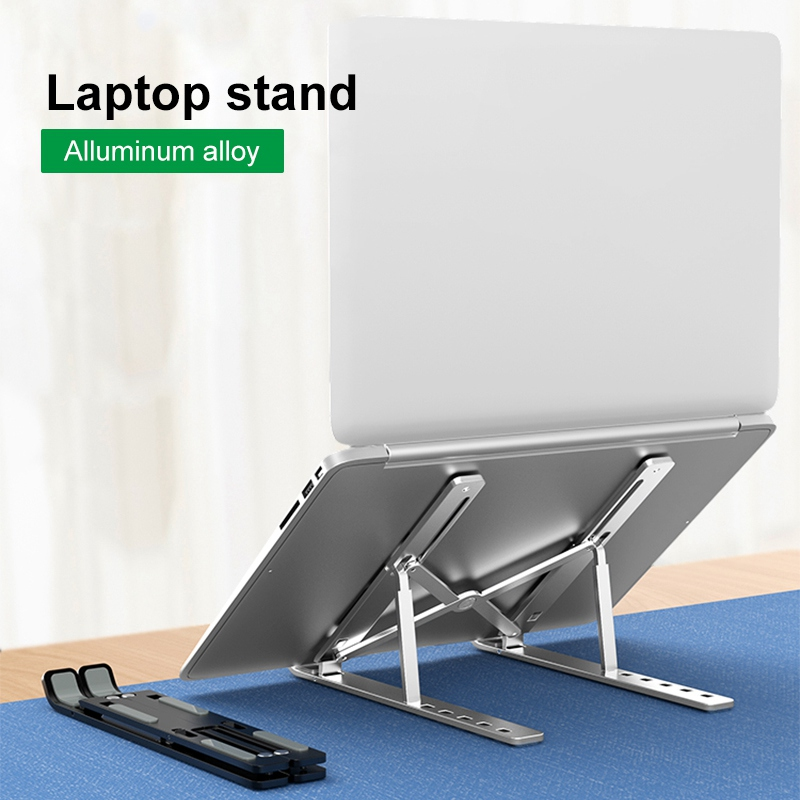 Portable Laptop Notebook Stand Holder For Macbook Air Pro 11 12 13 15 Non-slip Aluminum alloy PC Computer Cooling Bracket(China)