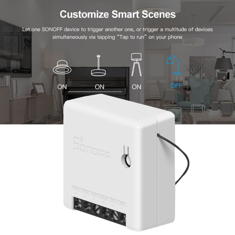 For Sonoff MINI DIY Smart Switch Small WiFi Switch for Alexa Google Home Remote Control Alarm System 3
