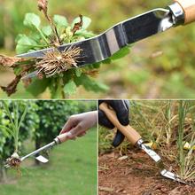1 sztuk ogród usuń narzędzia do pielenia rozwidlona głowa ręczny pielenie ściągacz usuwania Cutter Patio drewna uchwyt chwastów łopata narzędzie ze stali węglowej tanie tanio CN (pochodzenie)