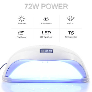 Image 3 - 4 Type UV Lamp  LED Nail Lamp For Manicure 72W SUN5 PRO Two Hand Lamp 36 Pcs Led Beads Nail Dryer For Curing Nail Gel Polish