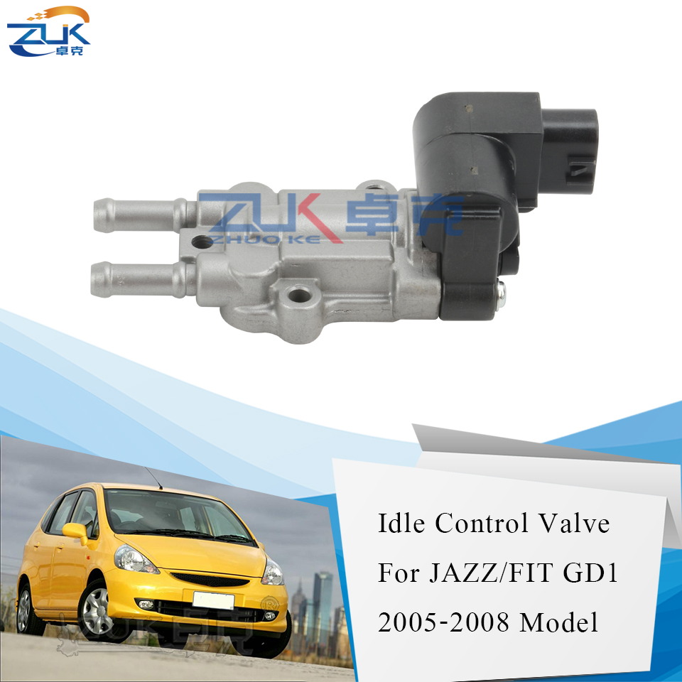 ZUK Rotary Idle Air Control Valve For HONDA FIT JAZZ GD1 GD3 2005 2006 2007 2008 For CITY FIT SALOON GD6 GD8 OEM:16022-PWA-901