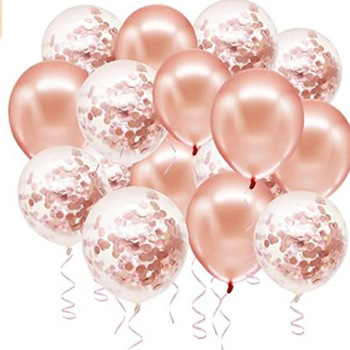 Rose Gold Confetti Latex Balloons DIY Garland Kit for Party Bridal & Baby Shower Birthday Wedding Party Shower Decorations image