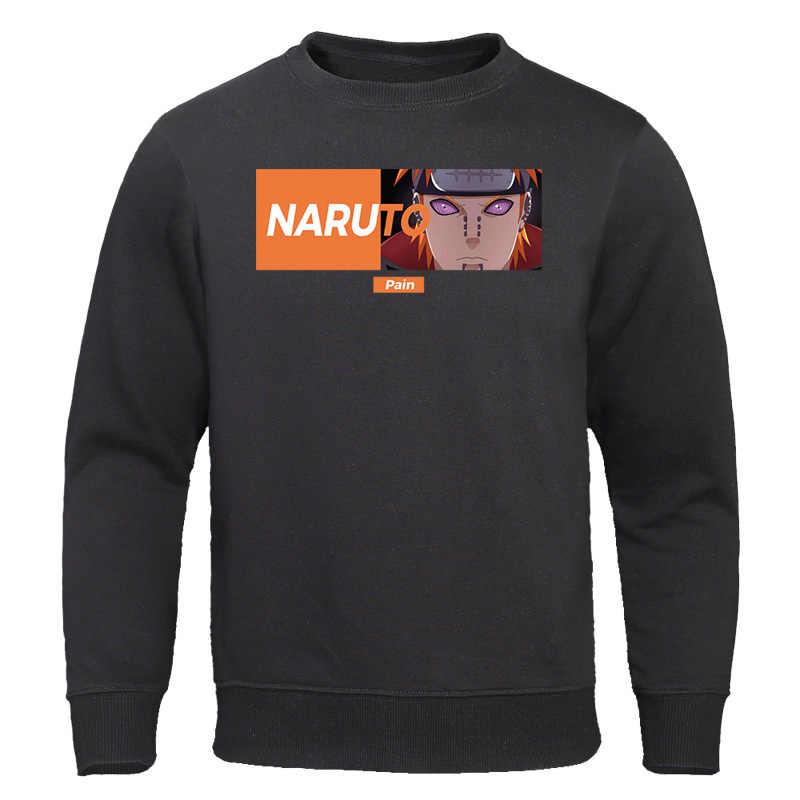 Anime Naruto Akatsuki męskie bluzy wiosenny i jesienny nowy mężczyzna bluza O-Neck męskie bluzy japońska moda uliczna luźny pulower