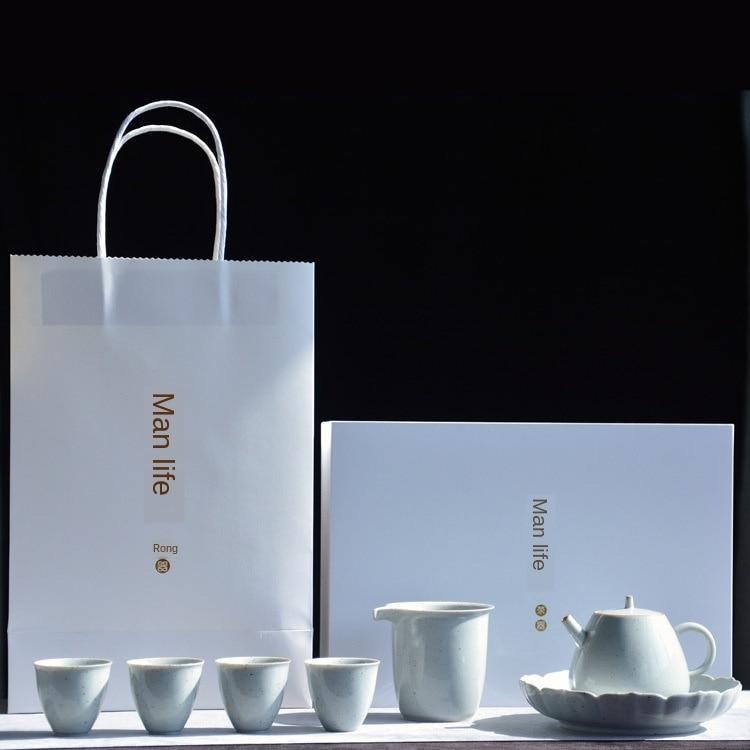 Японский кунг фу чай Крест между маленьким чайником Набор температурный чайный горшок набор чайный набор кунг фу чайный сервиз фарфоровый