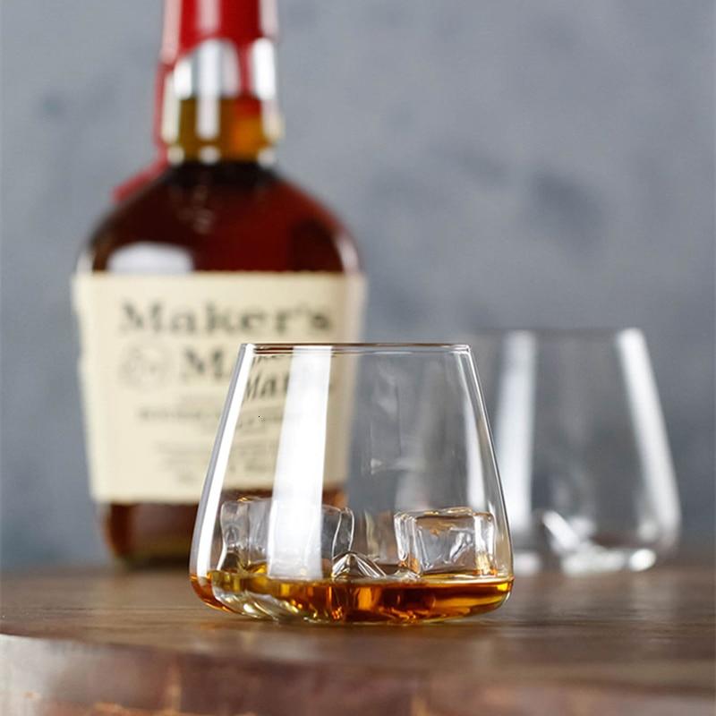Whiseddy Crystal Scotch Whiskey Glass Rocks Glasses Tumbler Eddy Bottom Swirl Designer Wine Cup For Bar Verre Whisky Shot Glass