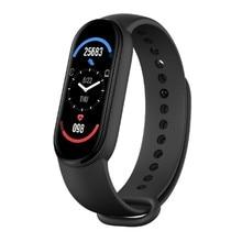 Faixas inteligentes esporte fitness rastreador m6 inteligente watchespedometer freqüência cardíaca monitor de pressão arterial bluetooth pulseiras para homens