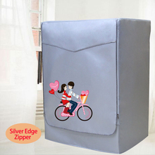 Waterproof Cover For Washer Sunscreen Washing Machine Cover Dryer Polyester Silver Coating Machine cubierta lavadora