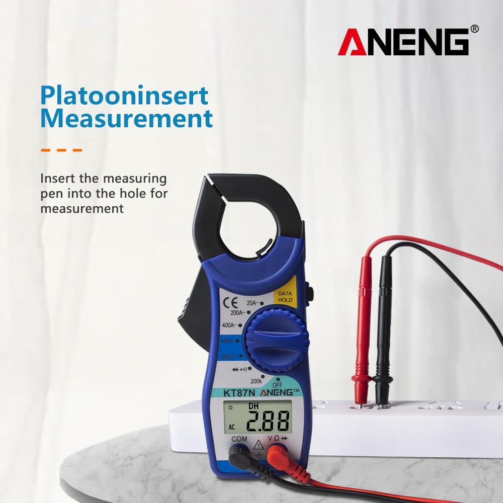 ANENG KT87N AC DC Current Clamp Meter Electrical Tester 600v true rms multimeter clamp pinza amperimetrica megger volt tester