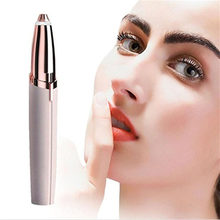 1pc Electric Eyebrow Trimmer Makeup Painless Eye Brow Epilator Mini Shaver Razors Portable Facial Hair Remover Dropshipping(China)