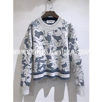 2020 зимний кашемировый свитер женский модный шерстяной свитер с круглым вырезом с длинным рукавом вышитый пуловер высокого качества свитер