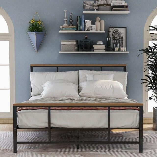 Metal Platform Bed Frames w/ Headboard & Footboard 4