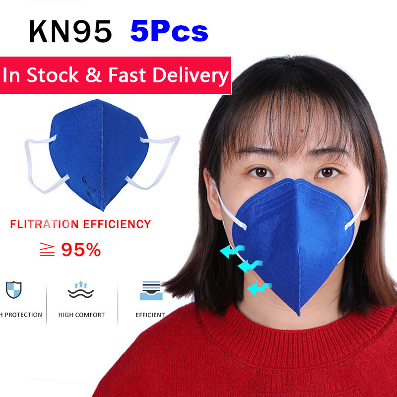 5Pcs Anti Infection Mask KN95 PM2.5 Mouth Mask Anti Virus Dust Respirator Washable Reusable Masks Cotton Unisex Mouth Muffle