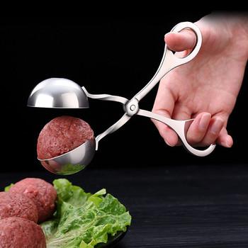 Kuchnia wygodne szczypce do formowania pulpetów szczypce do klopsów ze stali nierdzewnej DIY ryby mięso przyrząd do formowania kulek ryżowych Meatball narzędzie do formowania naczynia tanie i dobre opinie XINCHEN Urządzenia do hamburgerów CN (pochodzenie) Ekologiczne Na stanie Z gumy silikonowej YIN01H205169 Narzędzia do mięsa i drobiu