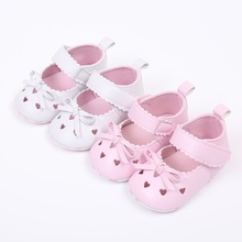 Baby Girls Shoes Newborn Infant Soft Sole Anti-slip Sneakers Bowknot