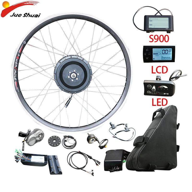 Kostenloser Versand Kit 36V350W Ebike Kit 21ahBattery Elektrische Bike Conversion Kit 20''26''700c Vorne Hinten hub Motor Rad Fahrrad Kit