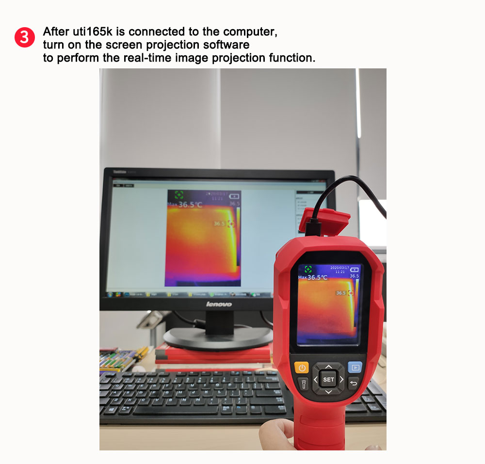 Mini Infrared Thermal Imaging Camera With Type-C USB Interface for Lithium Battery Charging 24