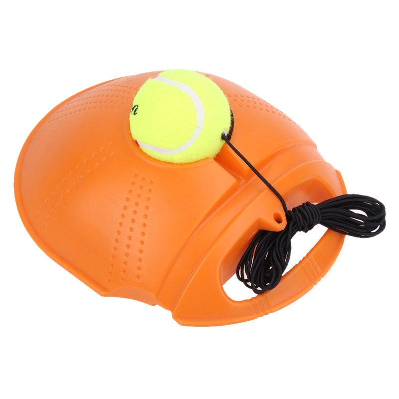 Tennis Trainer Training Primary Tool Exercise Tennis Ball Self-Study Rebound Ball Tennis Trainer Baseboard,Orange