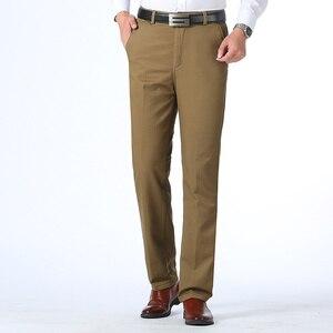 Image 5 - Осень зима мужские теплые флисовые классические черные хлопковые брюки мужские деловые свободные длинные брюки качественные повседневные рабочие брюки комбинезоны