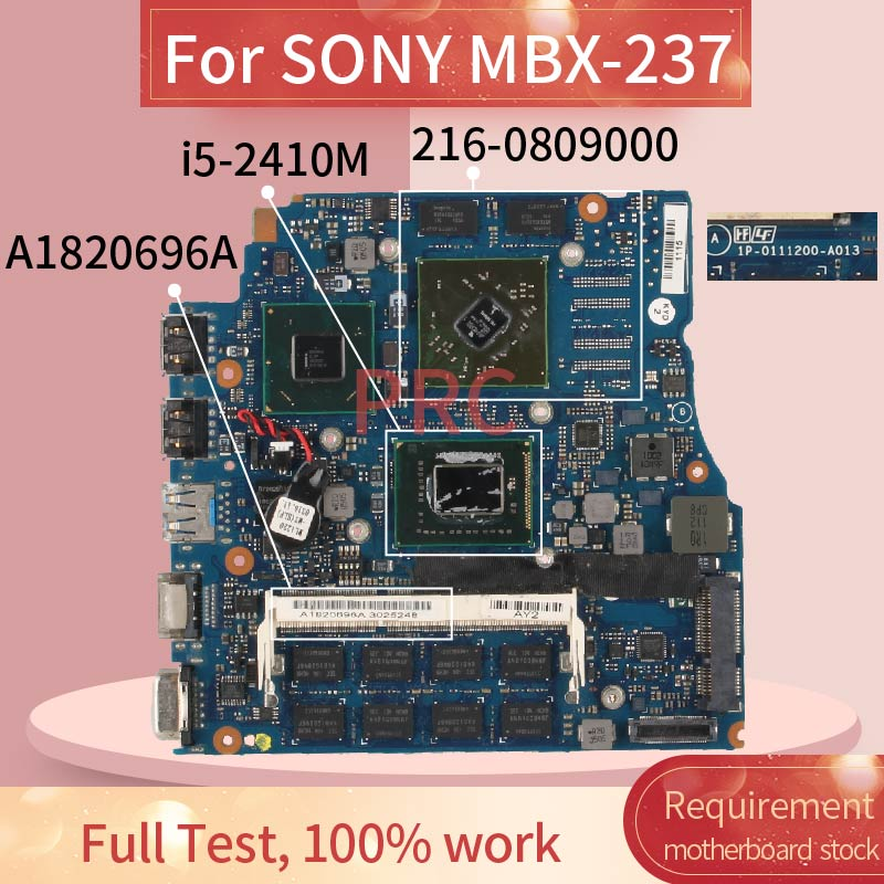 MBX-237 A1820696A For SONY Vaio VPCSB 13.3 <font><b>I5</b></font>-<font><b>2410M</b></font> HD 6470M Notebook Mainboard HM65 216-0809000 DDR3 Laptop Motherboard image
