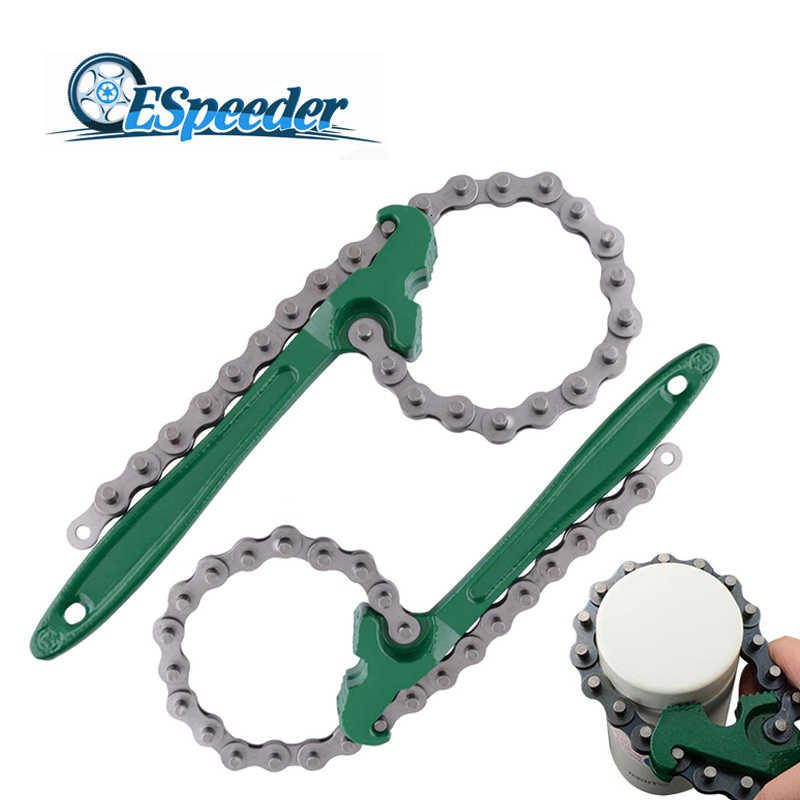 Heavy Duty 9 Inch Chain Wrench Oil Filter Remover Mechanic Auto Pipe Tool