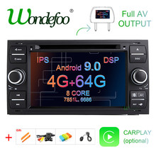 DSP IPS 2 din Android 9.0 4G 64G voiture GPS pour Ford Mondeo s-max Focus C-MAX Galaxy Fiesta transit Fusion connecter lecteur DVD kuga(China)