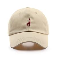 ג 'ירפה 100% כותנה בייסבול כובע לנשים וגברים קיץ אופנה Visors כובע בני בנות היפ הופ מזדמן Snapback כובע