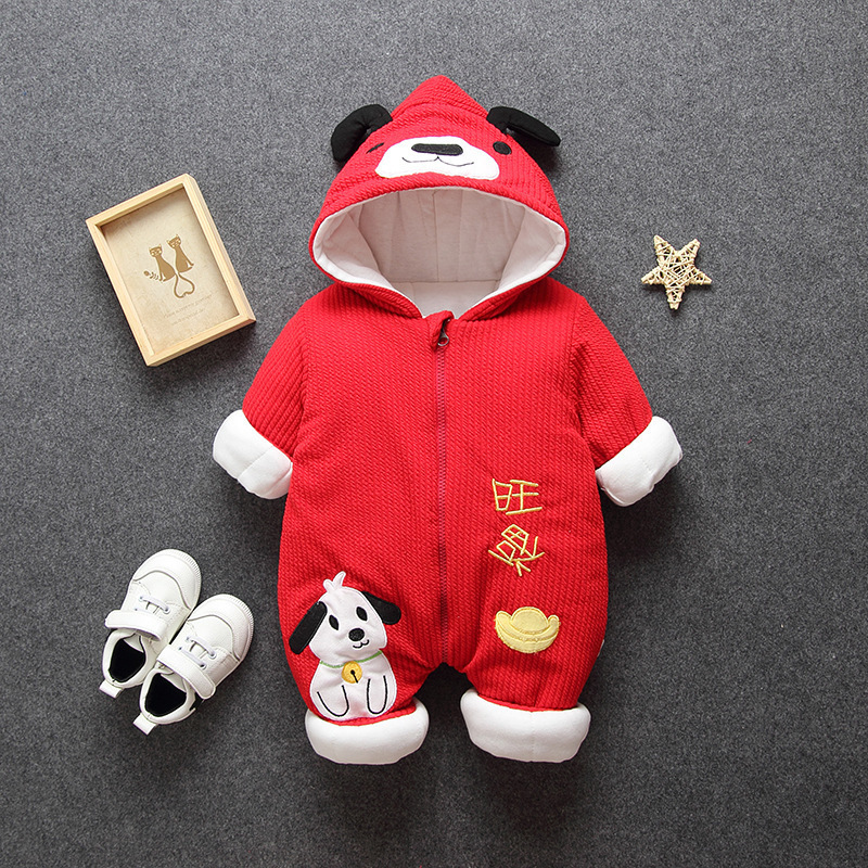 He858c49e578c4f579e2acc18a94a0cf1I 2019 New Russia Baby costume rompers Clothes cold Winter Boy Girl Garment Thicken Warm Comfortable Pure Cotton coat jacket kids