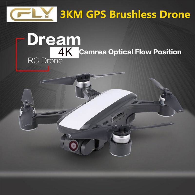 (New versio)C-fly Cfly Dream GPS RC Drone Brushless WIFI FPV Quacopter with 5G 4K HD <font><b>Camera</b></font> Follow Me Mode Circle Flying Optical image