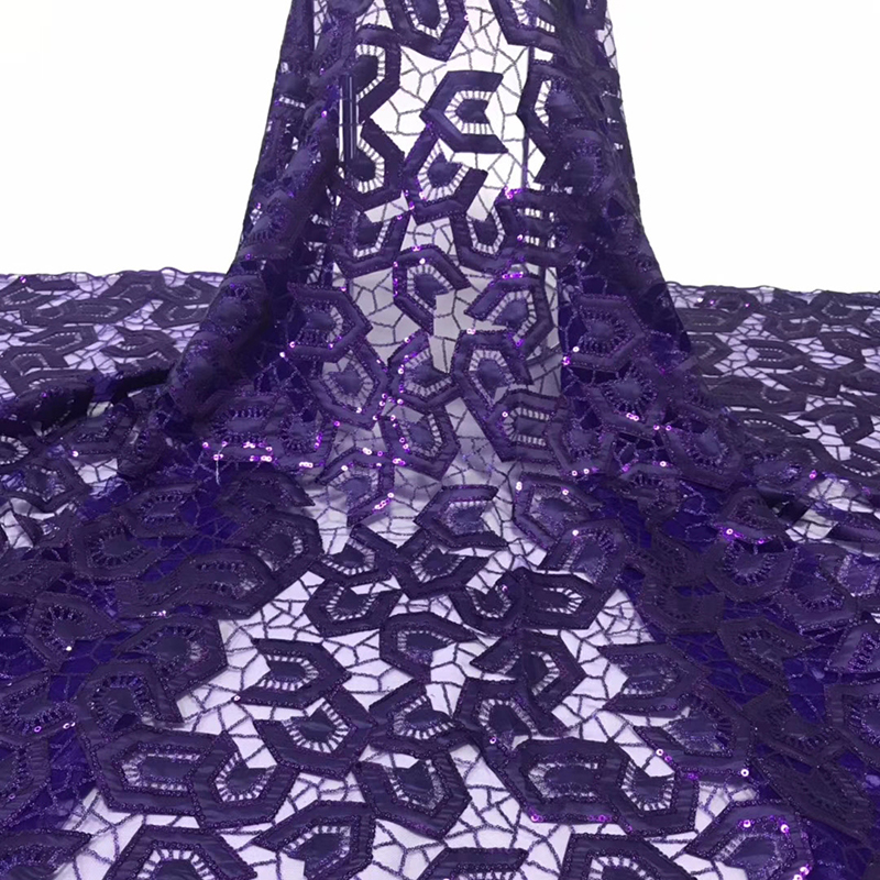 2020 Latest Arrival African Lace Fabric High Quality Swiss Voile Lace With Sequins Embroidered Fabric For Evening Dress 5 Yards