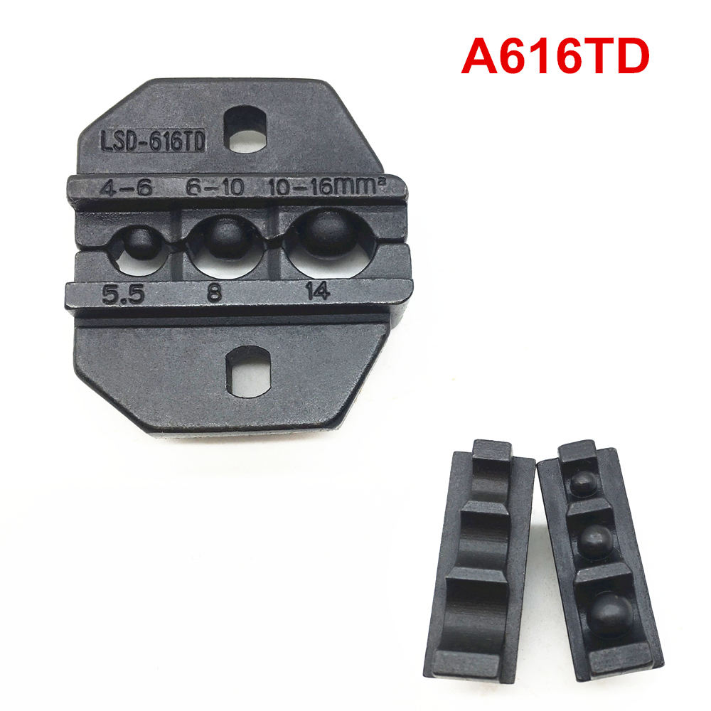 Crimp Die Sets A616TD Crimping Jaws For Non-insulated Cable Lugs Terminals 12-6AWG 4~16 Mm²