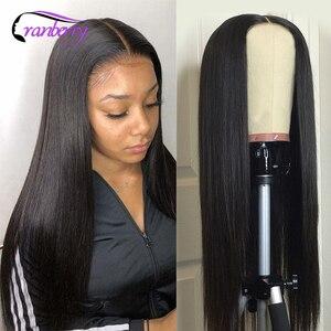 Бразильские прямые человеческие волосы парики для женщин полный машинный парик 4 дюйма Глубокая средняя часть T часть парик клюквенные воло...