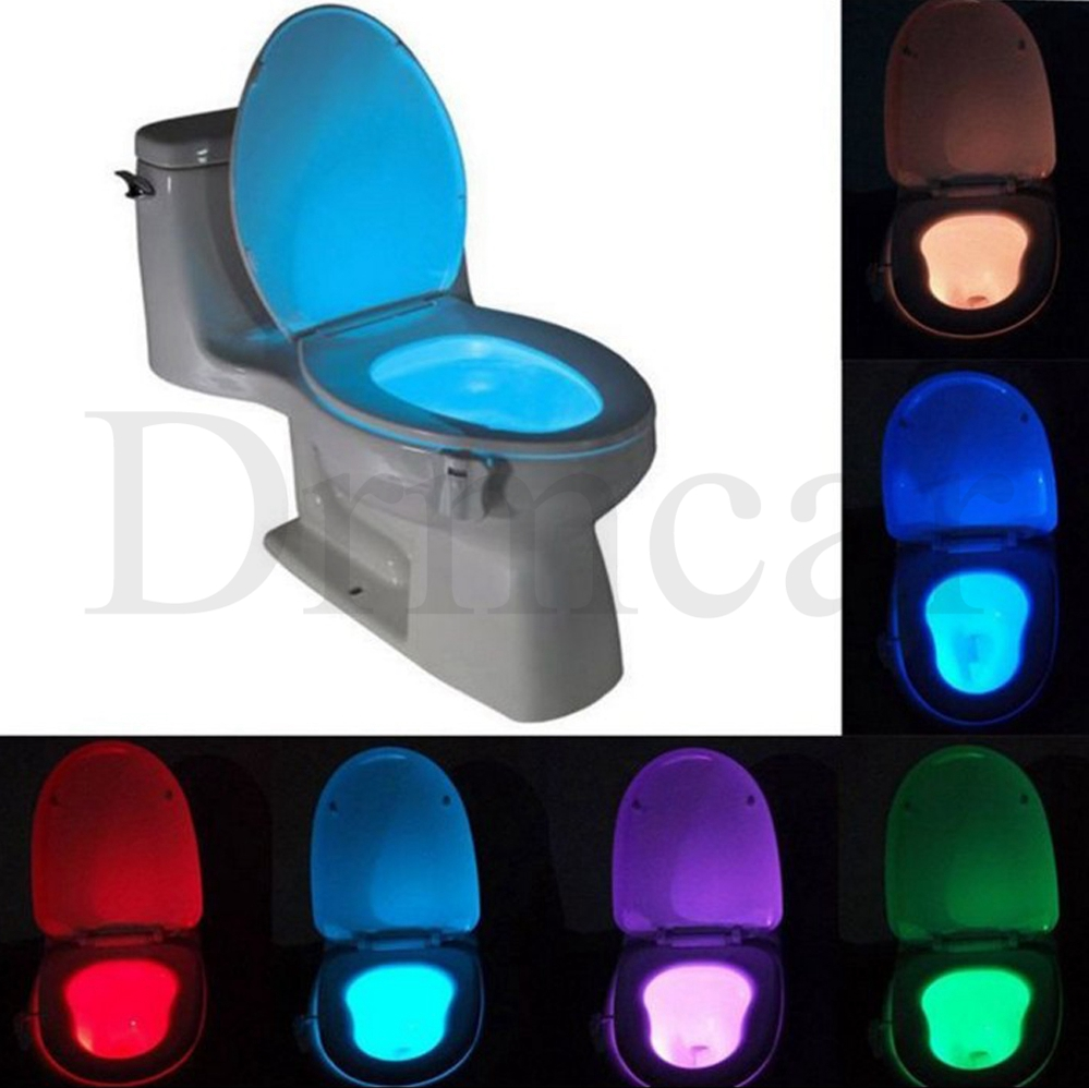 1pcs Toilet Seat Night Light Smart PIR Motion Sensor  8 Colors Waterproof Backlight For Toilet Bowl LED Luminaria Lamp WC Toilet