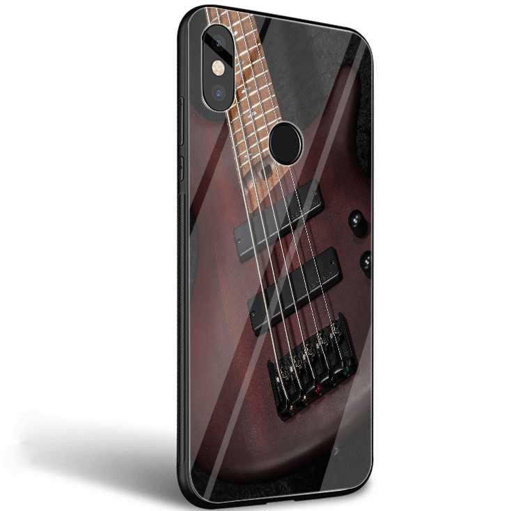 Desxz szkło etui na telefon xiaomi mi F1 A1 A2 5X 6X czerwony mi uwaga 5 6 7 Pro 6A 4X okładka gitara basowa struny gitary muzyczne