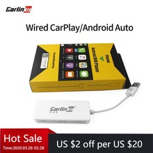 Carlinkit usb carplay dongle/android auto para android carro android multimídia jogador iphone android telefone wired autokit branco