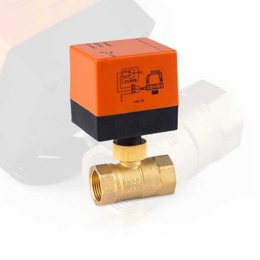 220VAC Brass Motorized Ball Valve 2 Way/ 3 Way, DN15 DN20 DN25 DN32 DN40 DN50, 3 Wires Control Electrical Ball Valve For Water